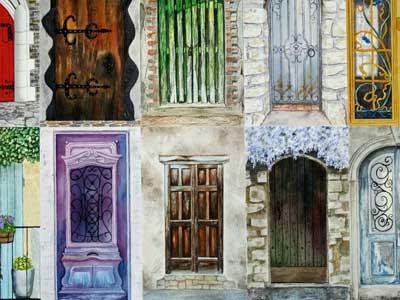 Original Watercolor · Doors Of France & Doors Artistfacts u0026 Knockin\u0027 On Heaven\u0027s Door By Bob ... pezcame.com